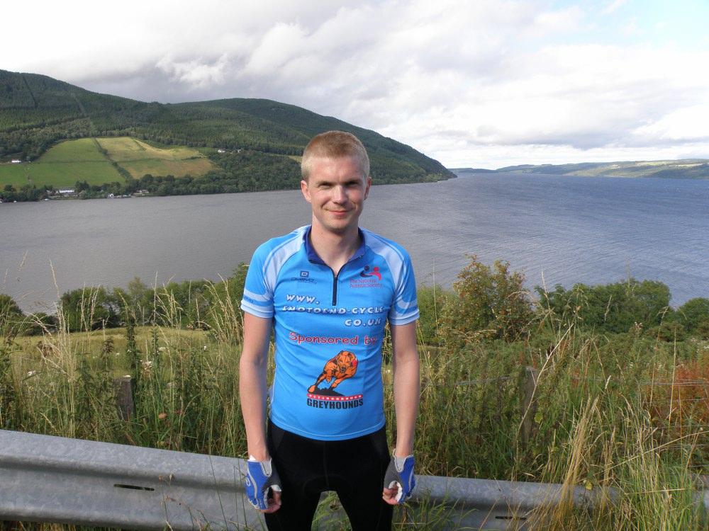 Gordon Valentine with Loch Ness