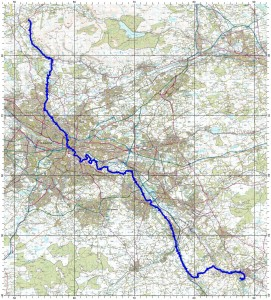 Killearn to New Lanark route