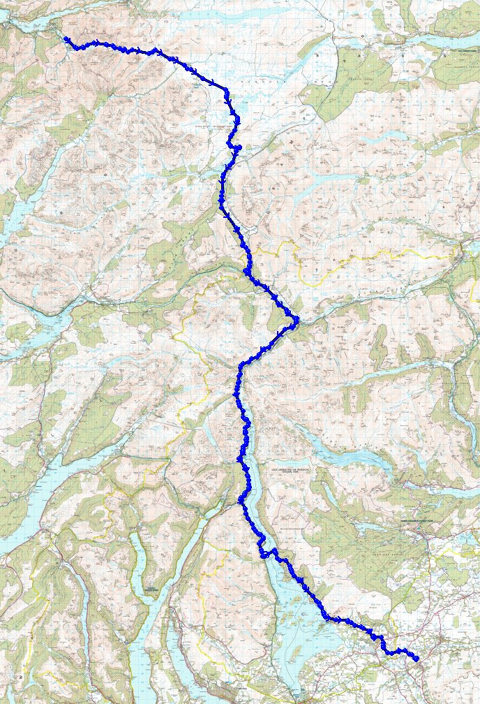 Glencoe to Killearn route
