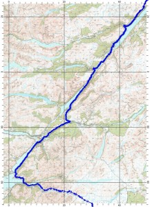 Loch Ness to Glencoe route