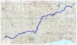 Street to Okehampton route