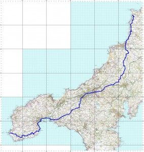 Treyarnon Bay to Land's End route