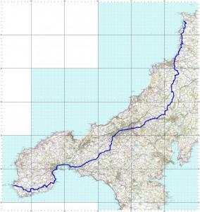 Treyarnon Bay to Land's End route